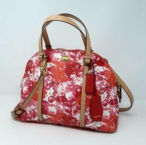COACH Peyton Floral Doom Satchel Handbag